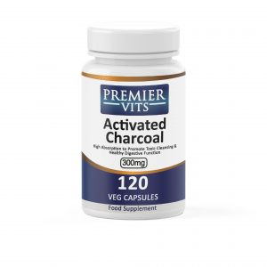 Activated Charcoal,  300mg x 120 Vegetarian Capsules  - Digestion Vitamins & Supplements UK