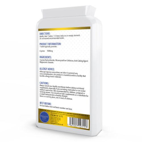 L-Lysine,1000mg 90 Tablets  - Immune Support Vitamins & Supplements UK