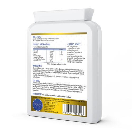 Collagen Hyaluronic Acid Complex 60 Capsules  - Bone Health Vitamins & Supplements UK