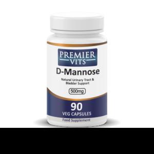 D-Mannose,  500mg x 90 Vegetarian Capsules  - Men's Health Vitamins & Supplements UK