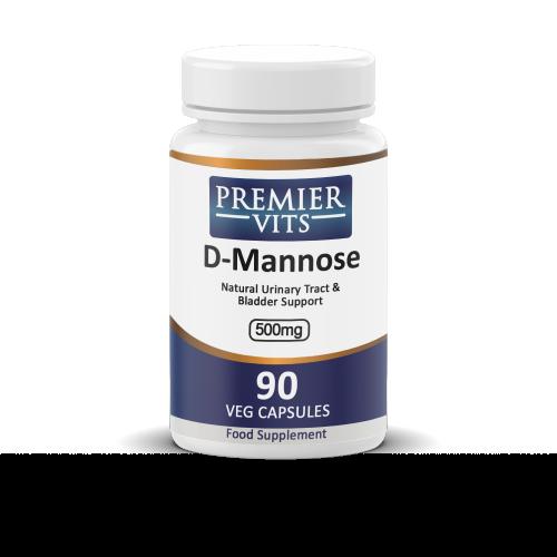 D-Mannose, 500mg x 90 Vegetable Capsules  - General Health Vitamins & Supplements UK
