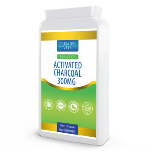 Activated Charcoal 300mg 120 Capsules  - Anti-aging Vitamins & Supplements UK