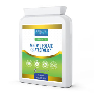 Methyl Folate Quatrefolic® 600µg 90 Capsules  - Antioxidant Vitamins & Supplements UK