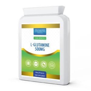 L-Glutamine 500mg 90 Capsules  - Immune Support Vitamins & Supplements UK