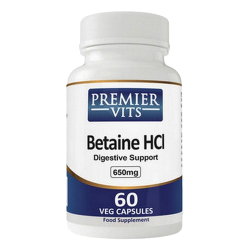 Betaine HCL 650mg 60 Vegetarian Capsules