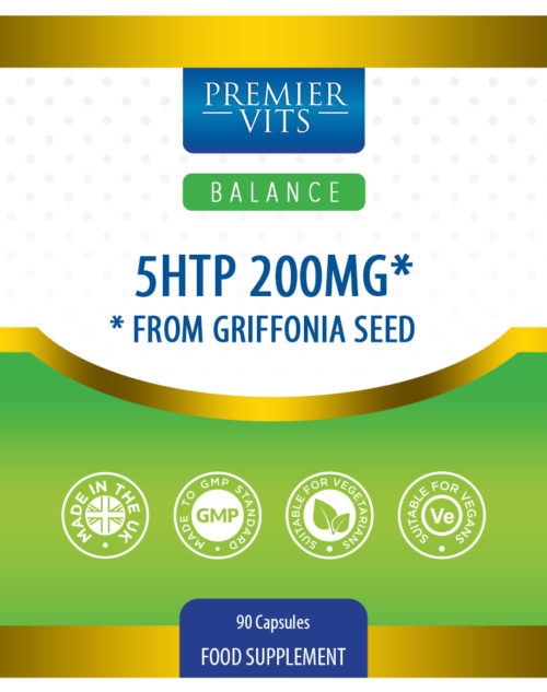 5HTP 200mg* from Griffonia Seed 90 Capsules  - Energy Vitamins & Supplements UK