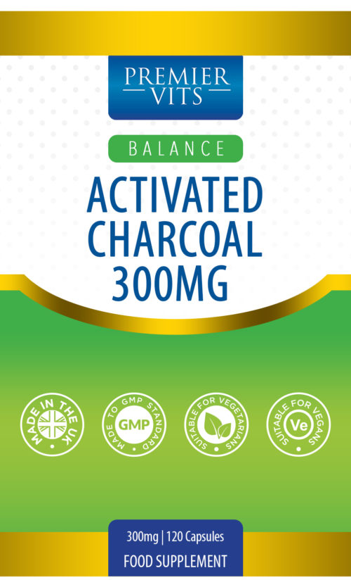 Activated Charcoal 300mg 120 Capsules  - Anti-inflammatory Vitamins & Supplements UK