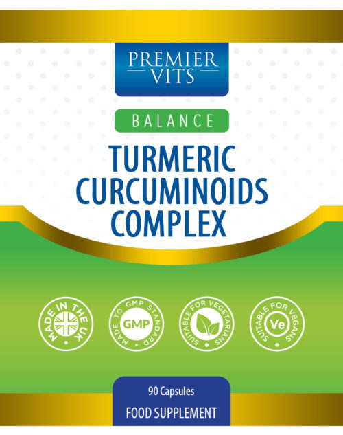 Turmeric Curcuminoids Complex 90 Capsules  - Anti-inflammatory Vitamins & Supplements UK