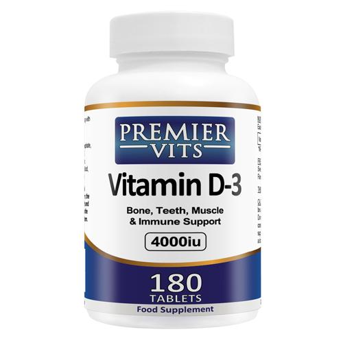 Vitamin D3 - 4000iu - 180 Vegetarian Tablets