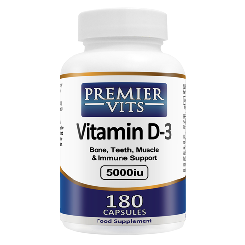 Vitamin D3 - 5000iu - 180 SoftGel Capsules