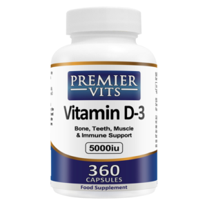 Vitamin D3 - 5000iu - 360 SoftGel Capsules