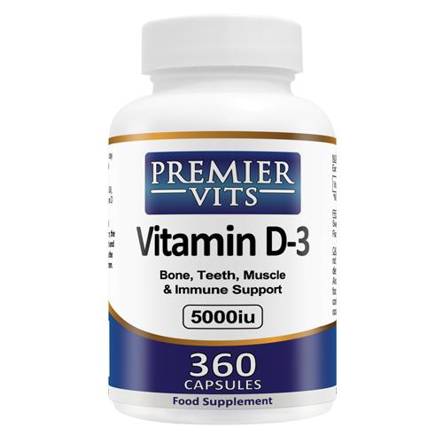 Vitamin D3 - 5000iu - 360 SoftGel Capsules
