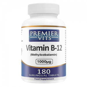 Vitamin B12 - Methylcobalamin - 1000mcg - 180 Sublingual Tablets