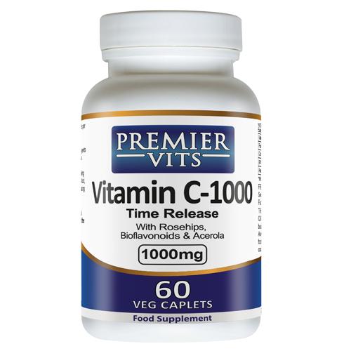 Vitamin C-1000 - 1000mg - 60 Time Release Vegetarian Capsules