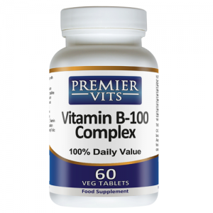 Vitamin B-100 Complex - 60 Vegetarian Tablets