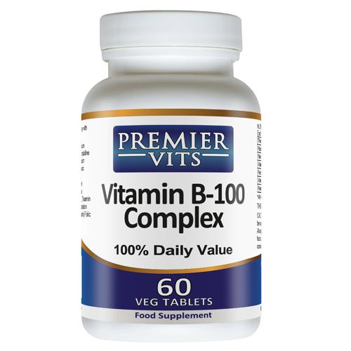 Vitamin B-100 Complex - 60 Vegetarian Tablets