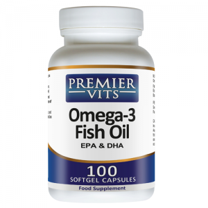 Omega-3 - EPA/DHA Fish Oil - 1000mg - 100 Softgel Capsules