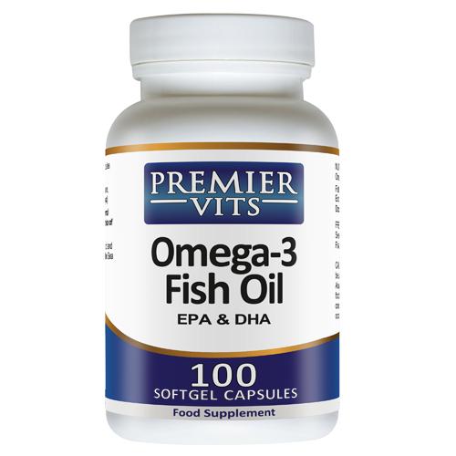 Omega-3 - EPA/DHA Fish Oil - 1000mg - 100 Softgel Capsules