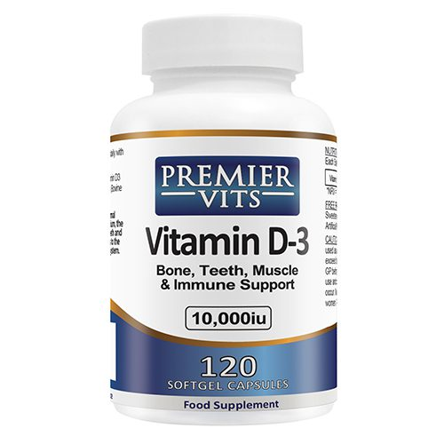 Vitamin D3 - 10000iu - 120 SoftGel Capsules