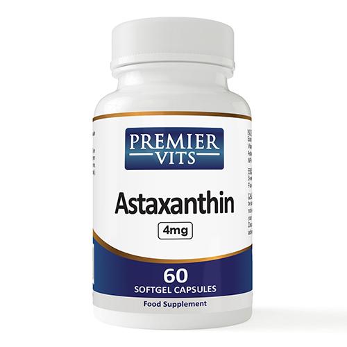 Astaxanthin 4mg X 60 Soft Capsules  - Digestion Vitamins & Supplements UK