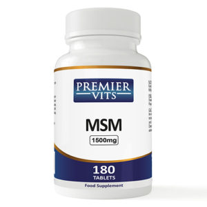 MSM - 1500mg - 180 Vegan Tablets