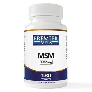 MSM - 1500mg - 180 Vegan Tablets