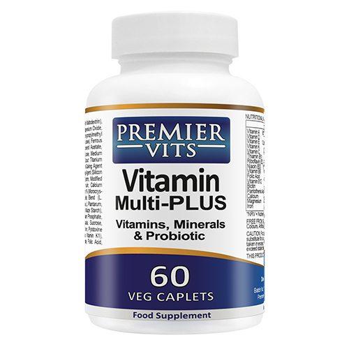 Multivitamin PLUS Probiotic - 60 Vegetarian Caplets