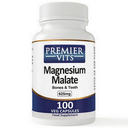 Magnesium Malate - 625mg - 100 Vegetarian Capsules