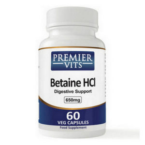 Betaine HCL - 650mg - 60 Vegetarian Capsules