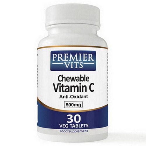 Vitamin C-500 - 500mg - 30 Chewable Vegetarian Capsules